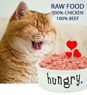 Raw Food 100% Chicken - Cat Food - 1 Kg Daging Ayam Giling