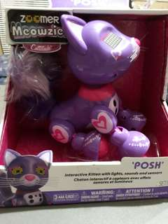 Zoomer Meowzies, Posh, Interactive Kitten with Lights, Sounds and Sensore