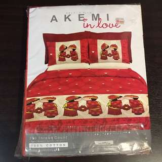 Akemi bed sheet- king size