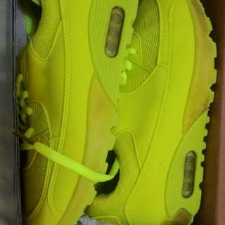 Neon green Air Shoes