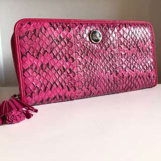 LOEWE Long Wallet (Pink, Snake Leather)