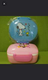Snoopy & Mickey Mouse Lunch Box