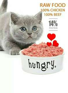 Raw Food 100% Chicken Liver - Cat Food - 1 Kg Hati Ayam