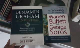 2 book set of Investment Books (Warren Buffett/George Soros and Benjamin Graham)