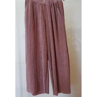 Metallic Wide Leg Culottes