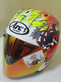 0206***SCOTT RUSSELL CONVERT ARAI Helmet For Sale 😁😁Thanks To All My Buyer Support 🐇🐇 Yamaha, Honda, Suzuki