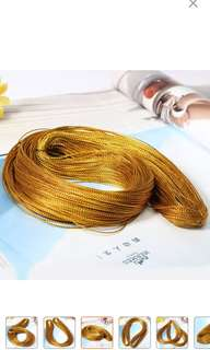 100 Yard Metallic Thread Craft Cord String Wedding Party Supplies 1mm Gold
