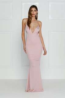 BRAND NEW 🌟Alamour the Label - Penelope Luxe Dusty Pink Formal Prom Dress Size L