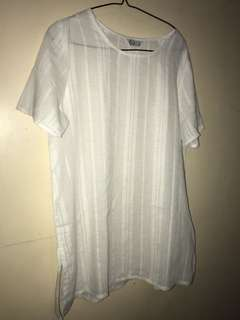 Cosco white see through,fits to m,l,xl