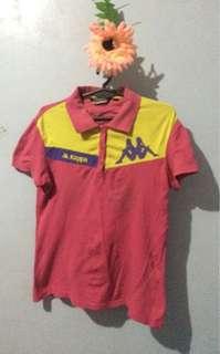 Original Kappa pink and yellow poloshirt