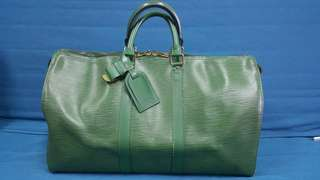 Pre-loved Louis Vuitton Keepall 45 Epi (Green)