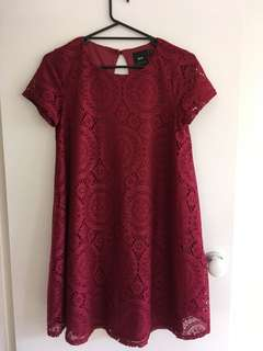 ASOS Maternity Burgundy Lace Dress