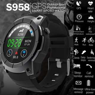 Sports GPS Healthy Heart Rate Touch Screen Bluetooth 4.0 Waterproof Compass Multi-mode Sports Monitoring Smart Watch