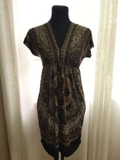 Brown summer cover up dress