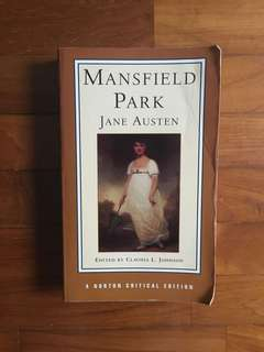 [PRICE REDUCED] Jane Austen - Mansfield Park (Norton Critical Editions, 1998)