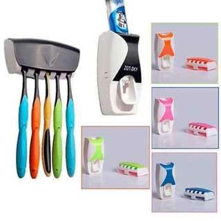 Toothpaste & toothbrush holder
