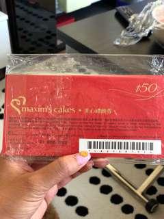 maxim cake coupon $50 x15
