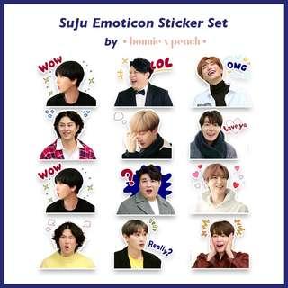 Super Junior Emoticon Sticker Set