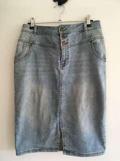 Forever New High Waisted Denim Skirt