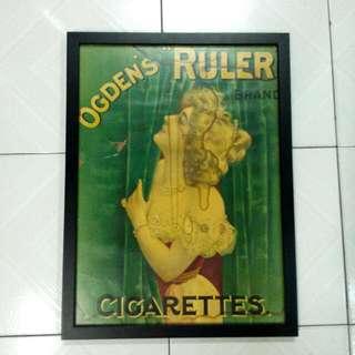1930s Ogden's Ruler Cigarettes Poster Vintage