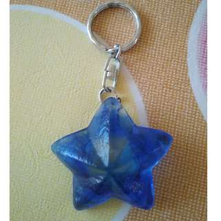 Dark Blue Philipines Starfish Keychain