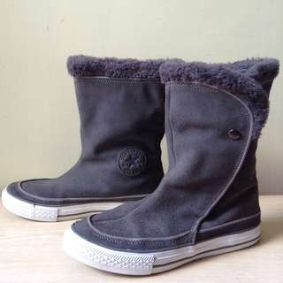 Converse gray suede boots