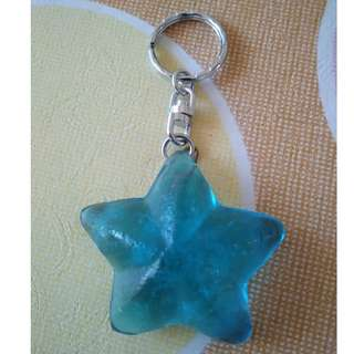 Light Blue Philipines Starfish Keychain