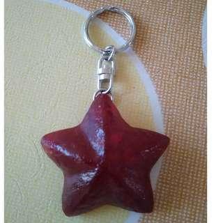 Red Philipines Starfish Keychain
