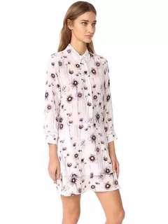 EQ:IQ printed silk dress