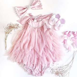 Dusty Pink dress for baby