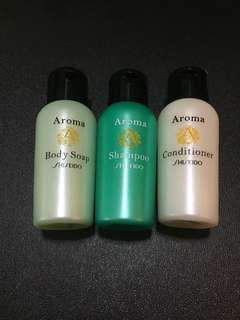 Shiseido aroma body soap, shampoo and conditioner set