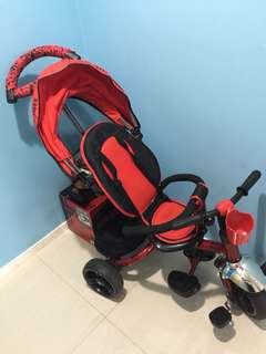 almost new 2 in 1 stroller and bicycle
