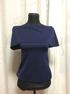 Dark blue off shoulder top