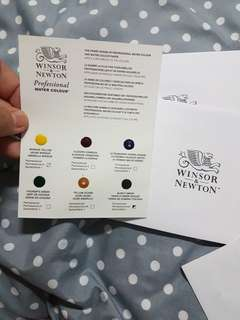 Windsor & Newton professional watercolour dot cards