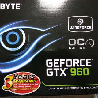 Gigabyte Gefore GTX 960 OC edition