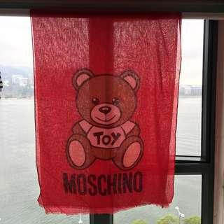 全新Authentic Moschino Toy Bear Red Scarf 熊仔 紅色 圍巾 披肩
