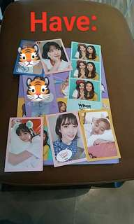 """Twice """"what is love"""" photocards"""