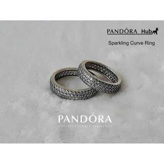 Sparkling Curve Ring