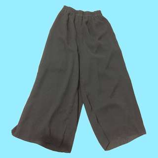Black Square Pants Culottes
