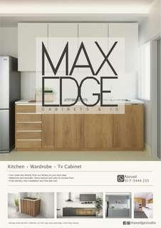 Tv console, wardrobe, feature wall, vanity desk, workstation, kitchen cabinet