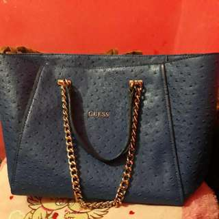 Guess Tote Bag Nikki Chain Blue
