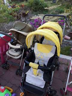 Second Hand Mamalove Twin/Double Seated Stroller