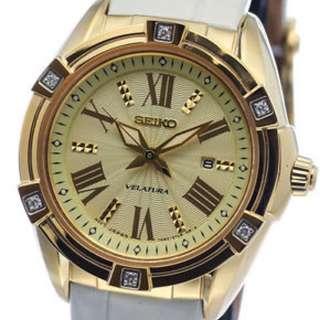 Seiko Velatura Diamond Gold Dial SXDF54P1 SXDF54P SXDF54