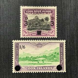 1940-60 Cook Island 2 Stamps