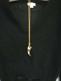 Double color hrinestone necklace