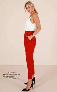 US TERNO   💋Top & Pants Terno 💫Woolen cotton top, thick stretch 💫Crepe bottom 💫Garter waist 💫2 side pockets 💫Belt not included 💫Free size fits up to L 💫Single color 💫Nice quality  Price : 390