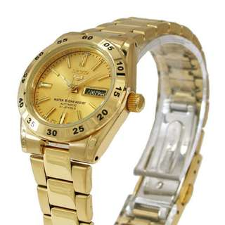 Seiko 5 Sports Womens Automatic Gold Plated Watch SYMG44K1 SYMG44K SYMG44