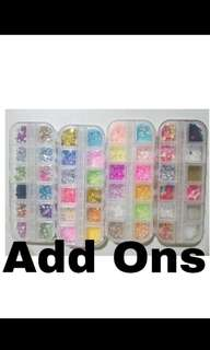 Add Ons , Sprinkles , Fimo slices sets :)