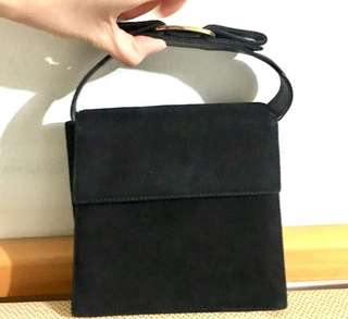 中古 Ferragamo Bag 黑色麂皮 兩用袋 Black Suede Two Way Bag