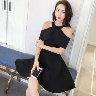 2 way wearing dress black dress